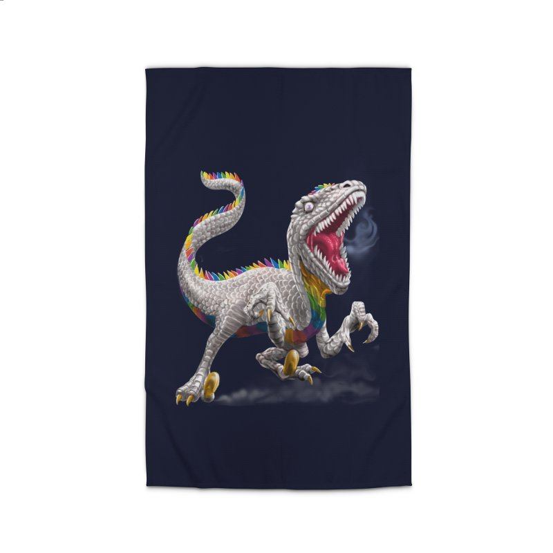 Rainbow Raptor Home Rug by Ayota Illustration Shop