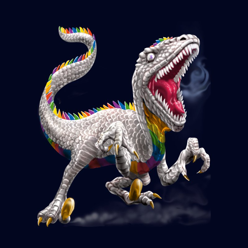 Rainbow Raptor by Ayota Illustration Shop