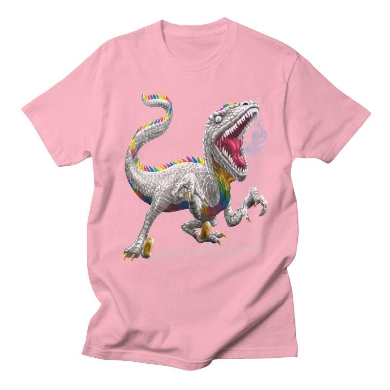 Rainbow Raptor Men's T-Shirt by Ayota Illustration Shop