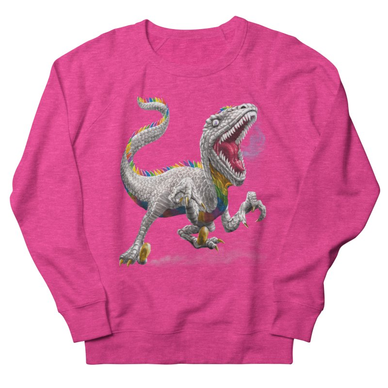 Rainbow Raptor Women's Sweatshirt by Ayota Illustration Shop