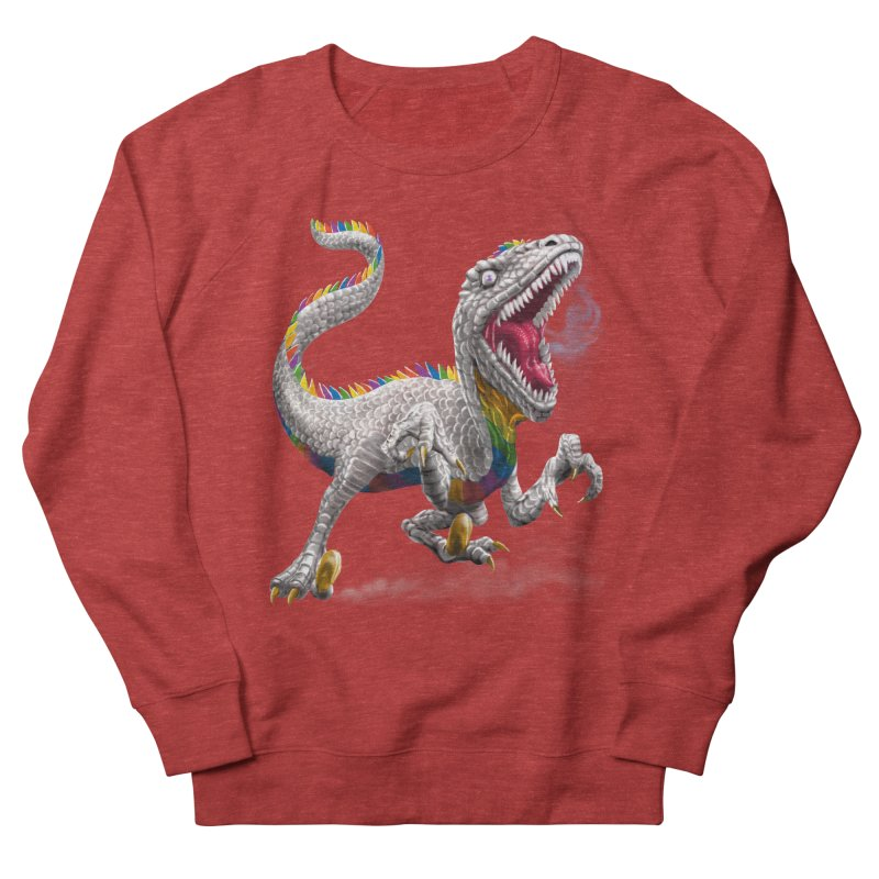 Rainbow Raptor Men's Sweatshirt by Ayota Illustration Shop