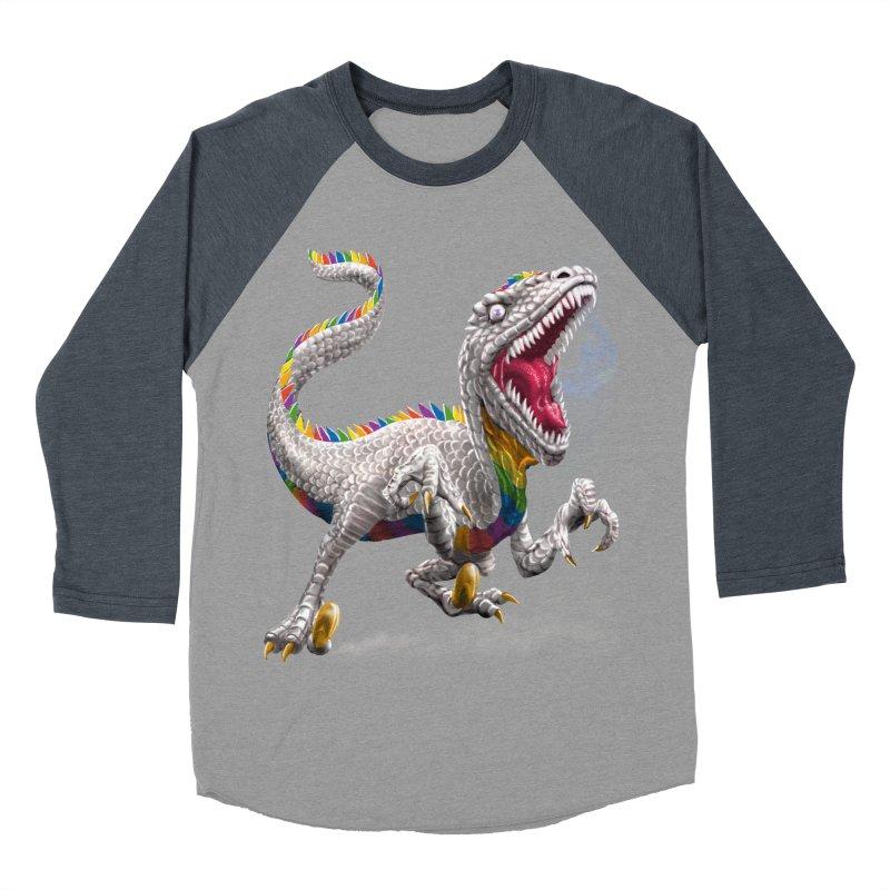 Rainbow Raptor Women's Baseball Triblend Longsleeve T-Shirt by Ayota Illustration Shop