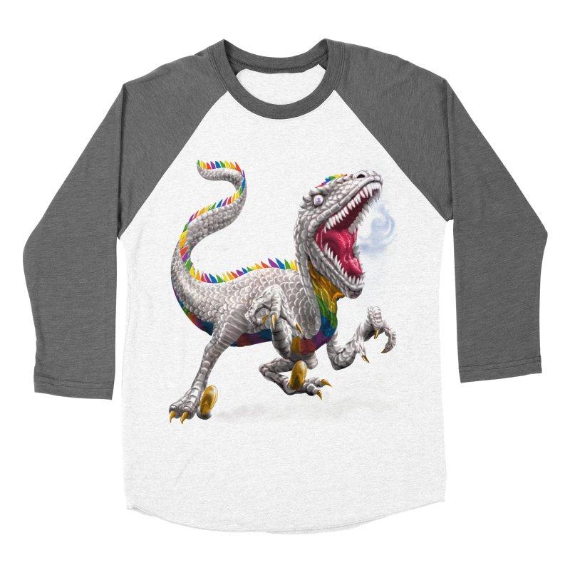 Rainbow Raptor Men's Baseball Triblend T-Shirt by Ayota Illustration Shop