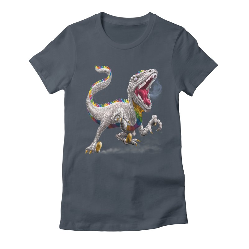 Rainbow Raptor Women's T-Shirt by Ayota Illustration Shop