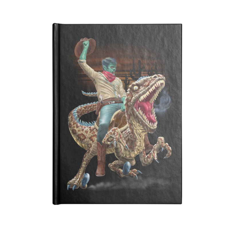 Zombie Rodeo Raptor Accessories Notebook by Ayota Illustration Shop