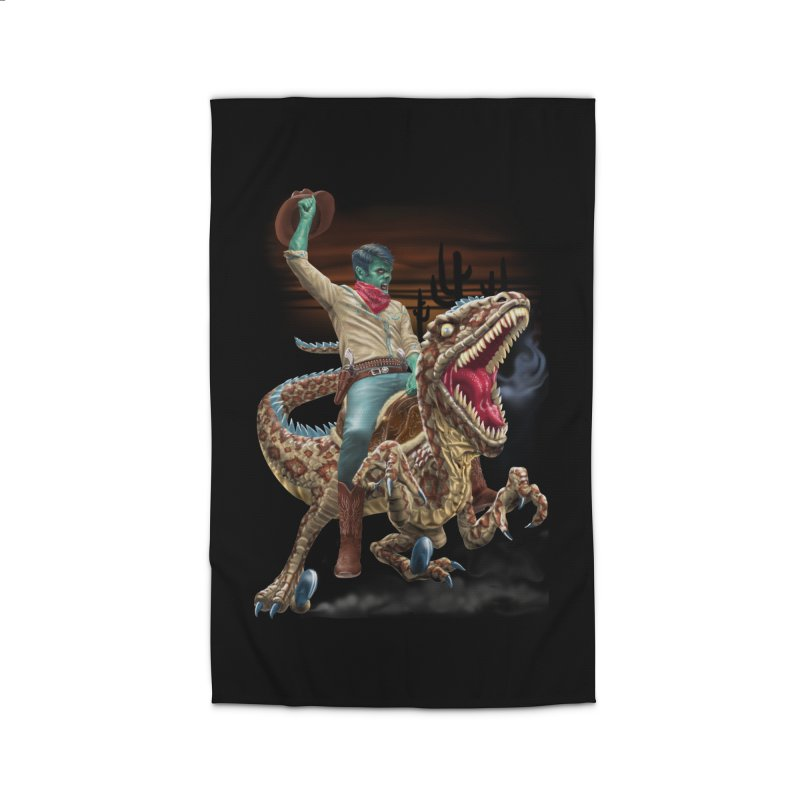 Zombie Rodeo Raptor Home Rug by Ayota Illustration Shop