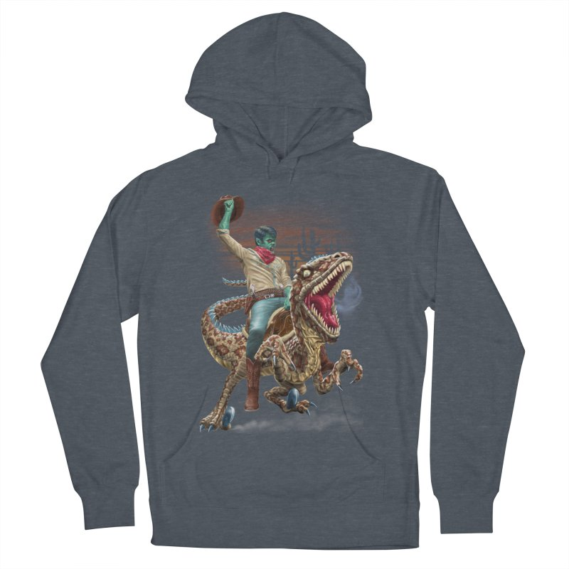 Zombie Rodeo Raptor Men's Pullover Hoody by Ayota Illustration Shop