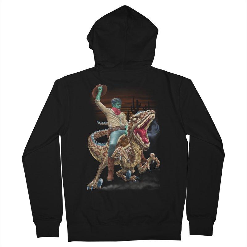 Zombie Rodeo Raptor Men's Zip-Up Hoody by Ayota Illustration Shop