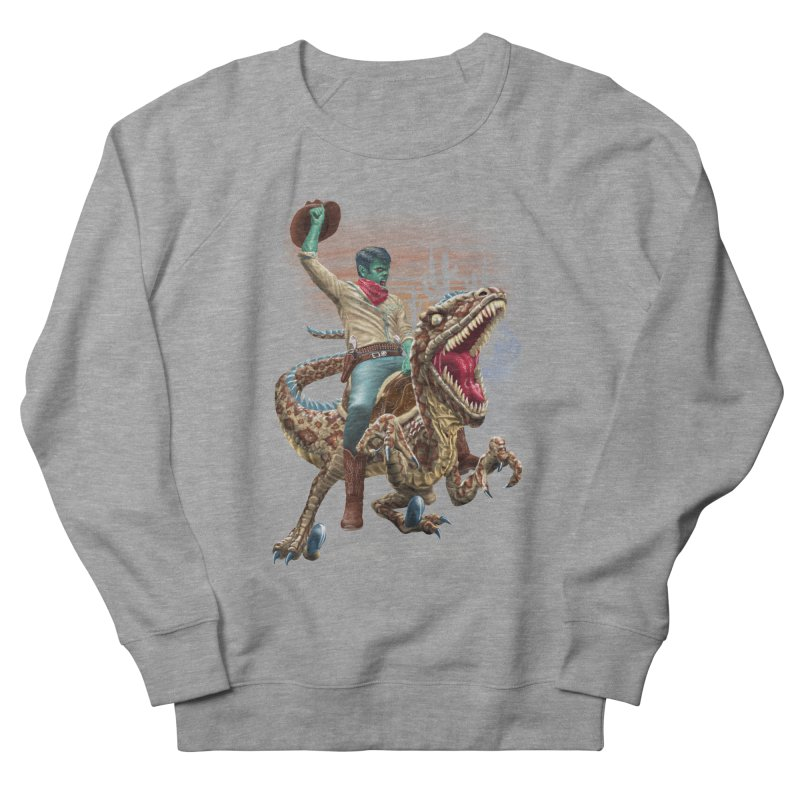 Zombie Rodeo Raptor Men's Sweatshirt by Ayota Illustration Shop