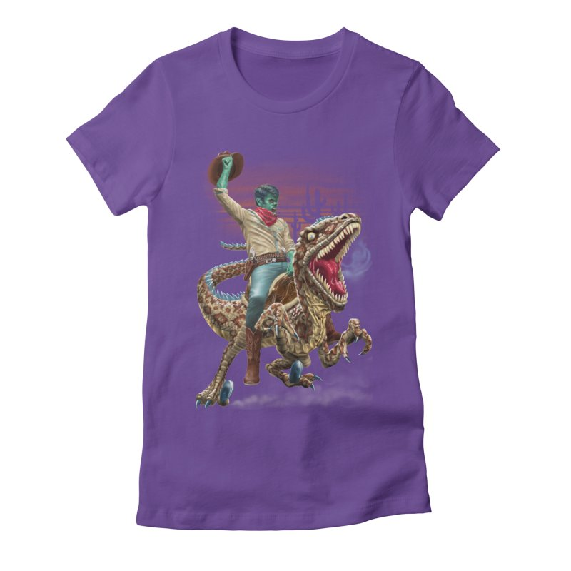 Zombie Rodeo Raptor Women's Fitted T-Shirt by Ayota Illustration Shop