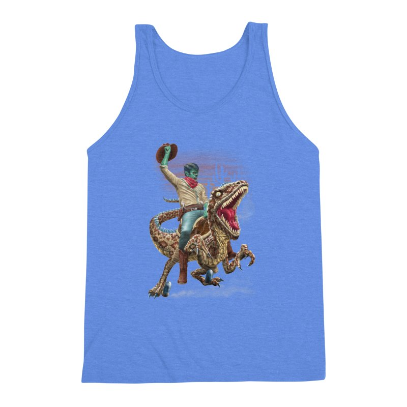 Zombie Rodeo Raptor Men's Triblend Tank by Ayota Illustration Shop
