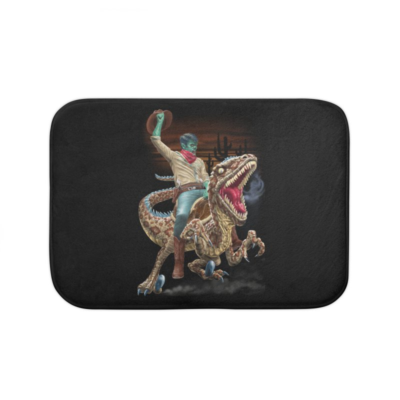 Zombie Rodeo Raptor Home Bath Mat by Ayota Illustration Shop
