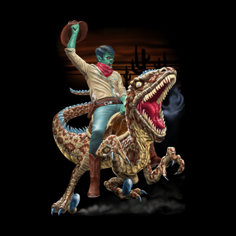 Zombie Rodeo Raptor Kids T-Shirt by Ayota Illustration Shop