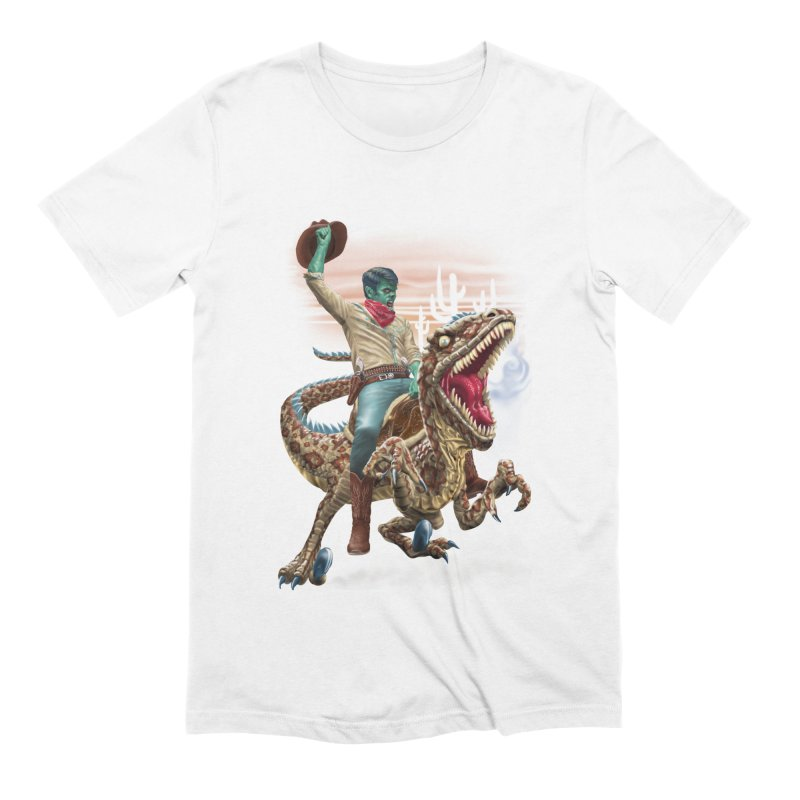 Zombie Rodeo Raptor Men's Extra Soft T-Shirt by Ayota Illustration Shop