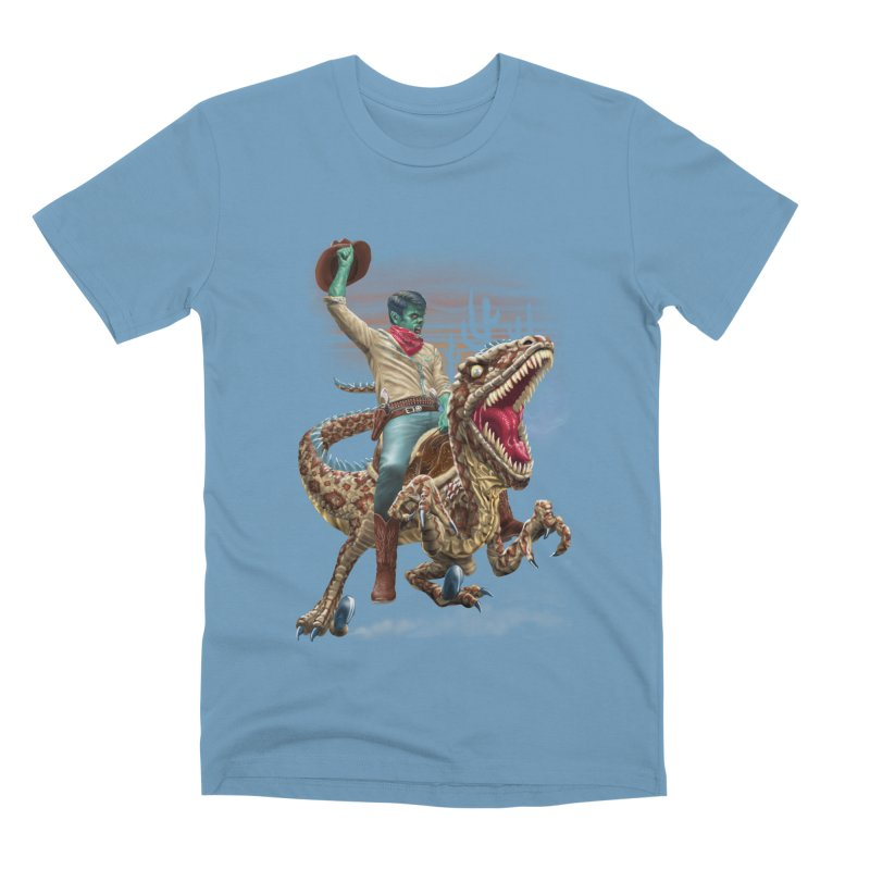 Zombie Rodeo Raptor Men's Premium T-Shirt by Ayota Illustration Shop