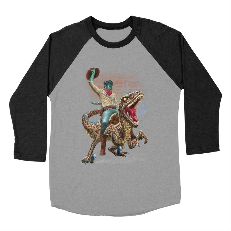 Zombie Rodeo Raptor Men's Longsleeve T-Shirt by Ayota Illustration Shop