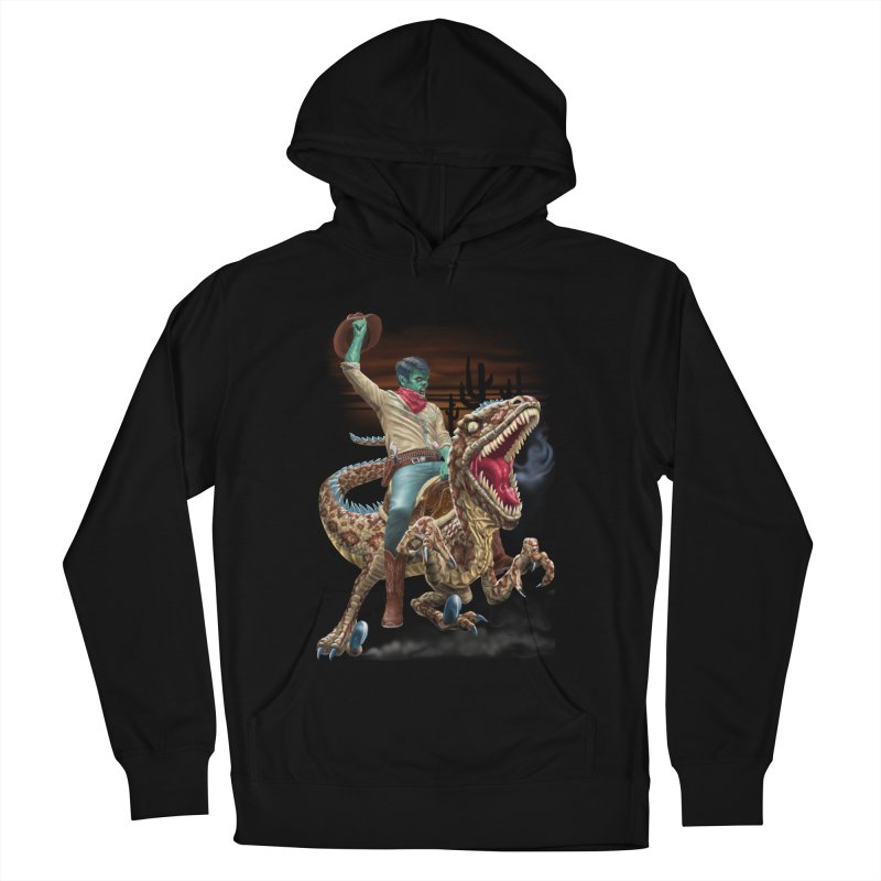Zombie Rodeo Raptor Men's French Terry Pullover Hoody by Ayota Illustration Shop