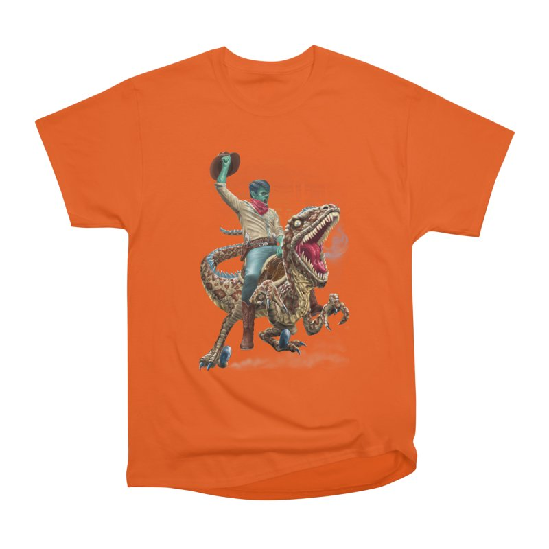 Zombie Rodeo Raptor Men's T-Shirt by Ayota Illustration Shop