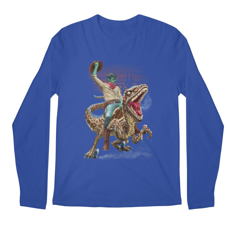 Zombie Rodeo Raptor Men's Regular Longsleeve T-Shirt by Ayota Illustration Shop