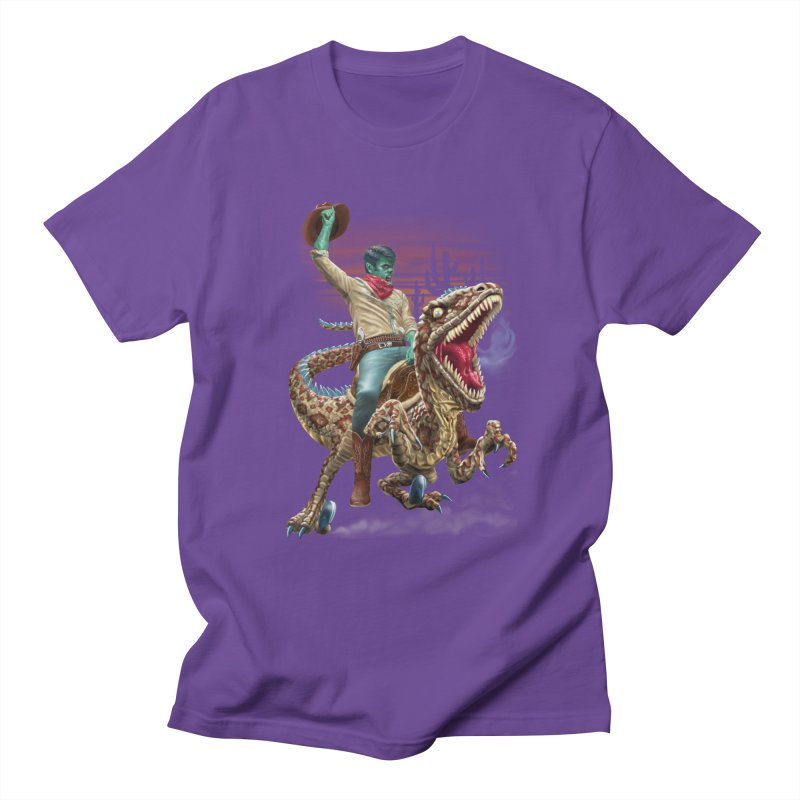 Zombie Rodeo Raptor Men's Regular T-Shirt by Ayota Illustration Shop