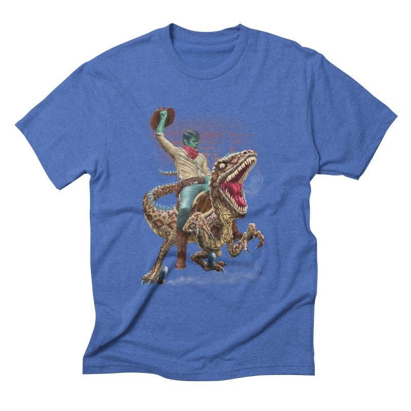 Zombie Rodeo Raptor Men's Triblend T-Shirt by Ayota Illustration Shop