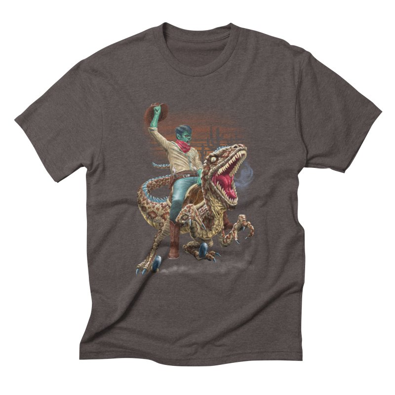 Zombie Rodeo Raptor Men's Triblend T-Shirt by Ayota Illustration Shop