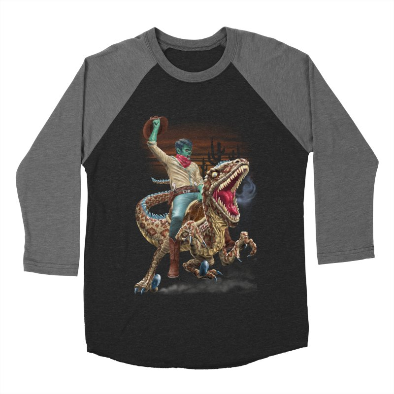 Zombie Rodeo Raptor Men's Baseball Triblend Longsleeve T-Shirt by Ayota Illustration Shop