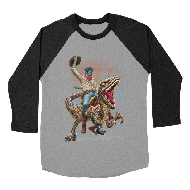 Zombie Rodeo Raptor Men's Baseball Triblend Longsleeve T-Shirt by Ayota Illustration Shop