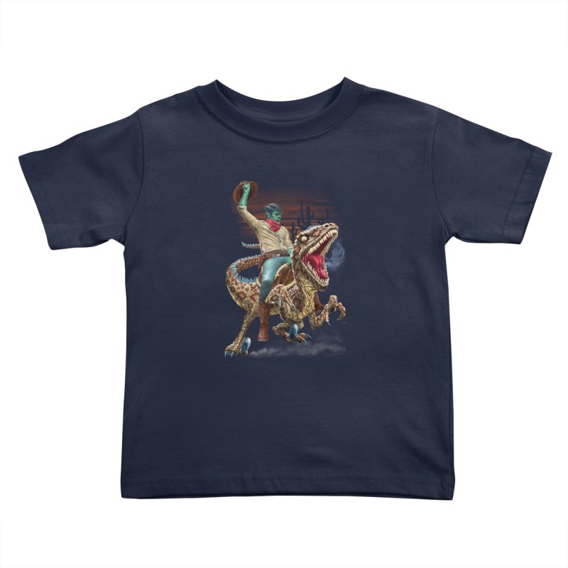 Zombie Rodeo Raptor Kids Toddler T-Shirt by Ayota Illustration Shop