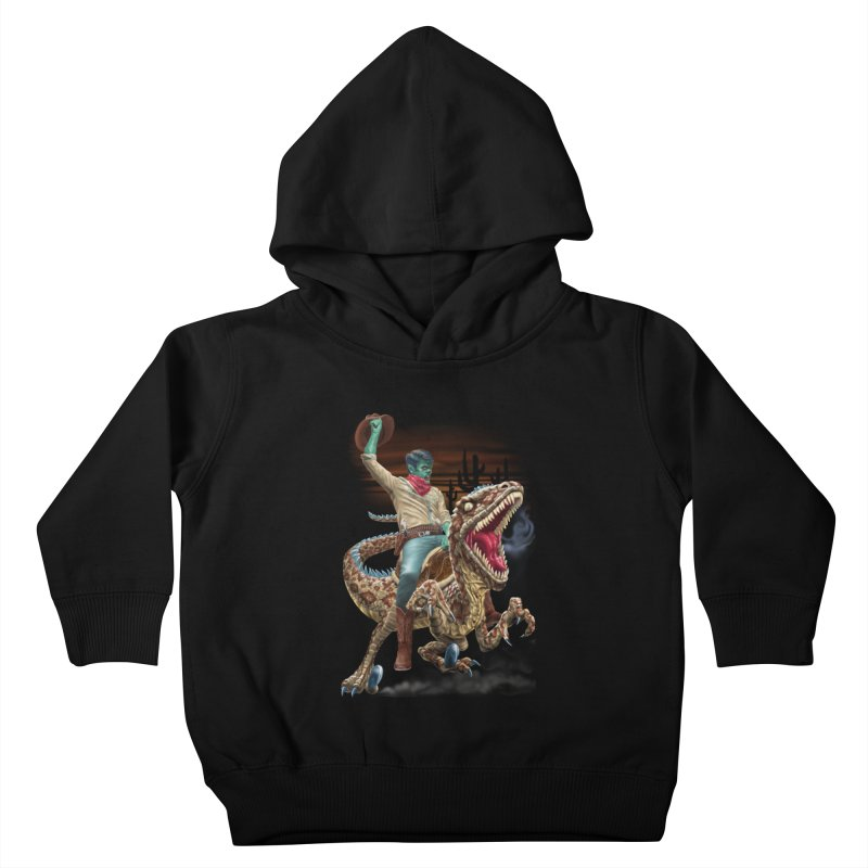 Zombie Rodeo Raptor Kids Toddler Pullover Hoody by Ayota Illustration Shop