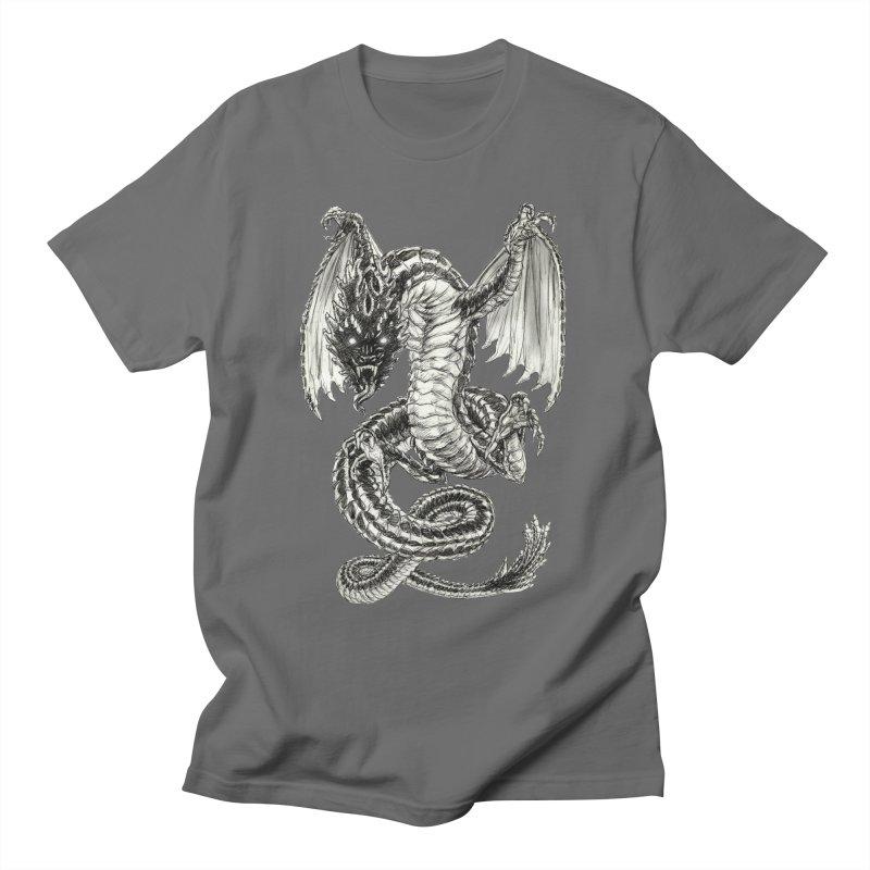 Black Dragon Men's T-Shirt by Ayota Illustration Shop