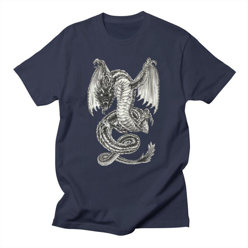 Black Dragon Women's T-Shirt by Ayota Illustration Shop
