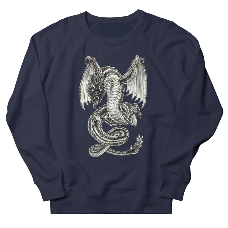 Black Dragon Men's Sweatshirt by Ayota Illustration Shop