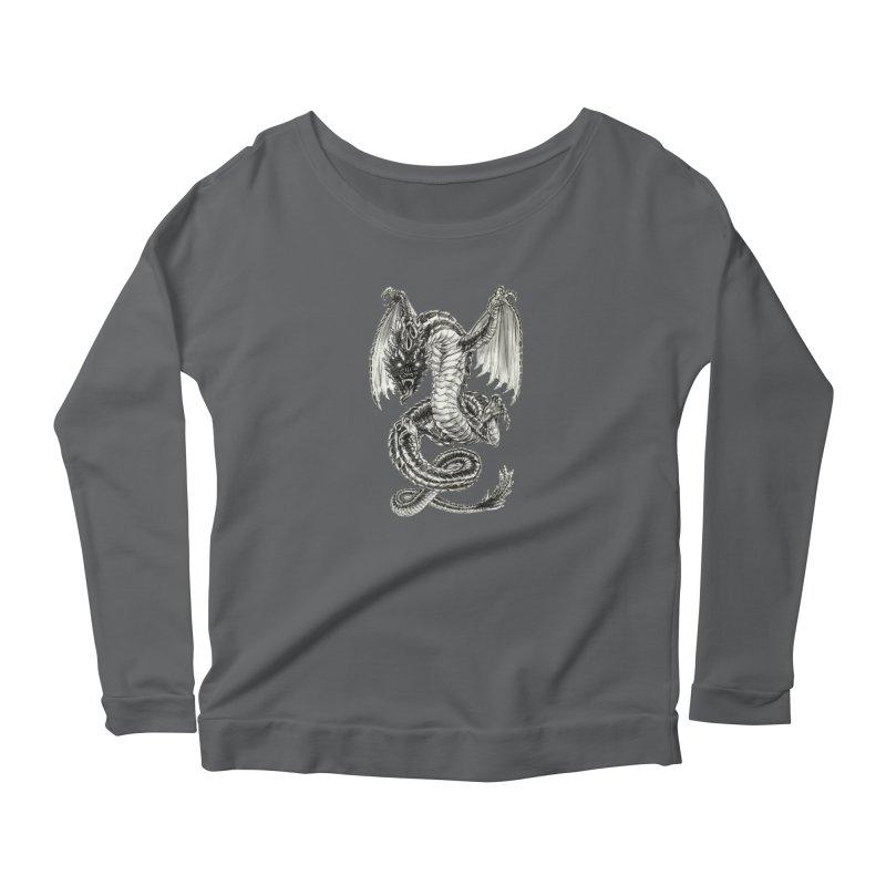 Black Dragon Women's Longsleeve T-Shirt by Ayota Illustration Shop