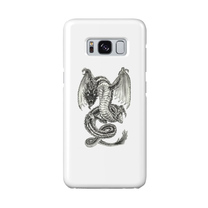 Black Dragon Accessories Phone Case by Ayota Illustration Shop