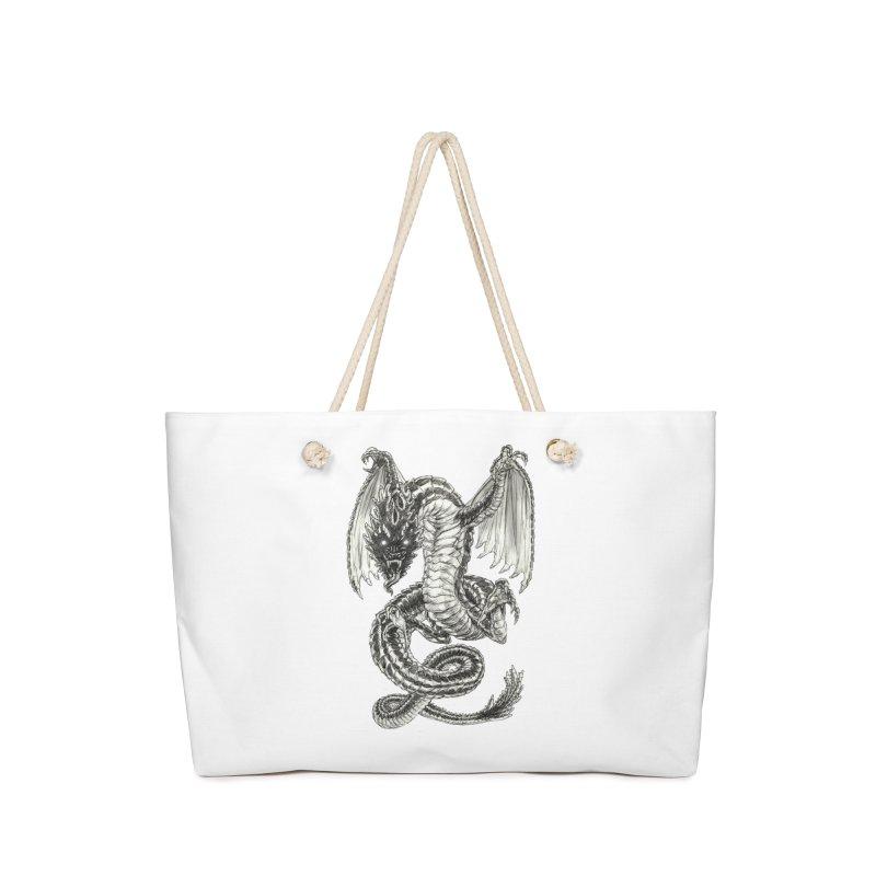 Black Dragon Accessories Bag by Ayota Illustration Shop
