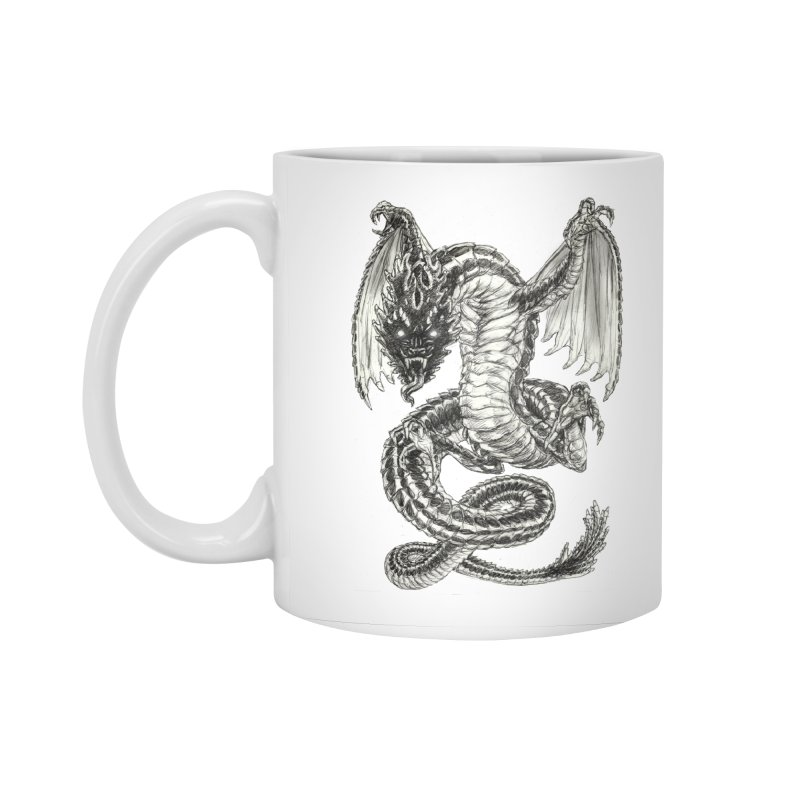 Black Dragon Accessories Standard Mug by Ayota Illustration Shop