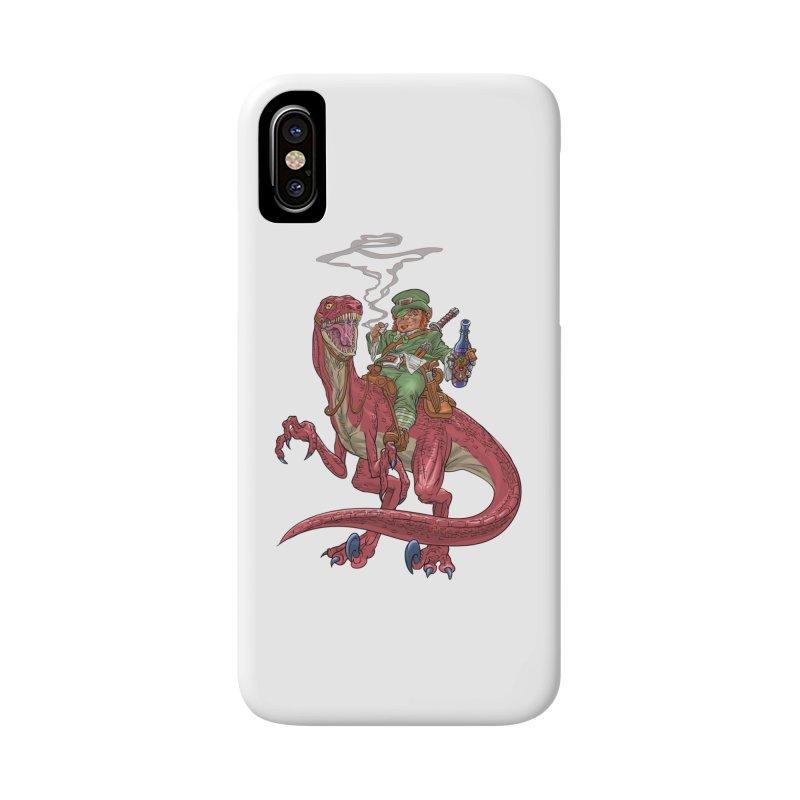 Leprechaun on a Velociraptor  Accessories Phone Case by Ayota Illustration Shop