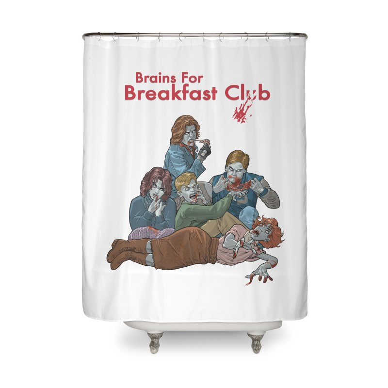 Brains for Breakfast Club Home Shower Curtain by Ayota Illustration Shop