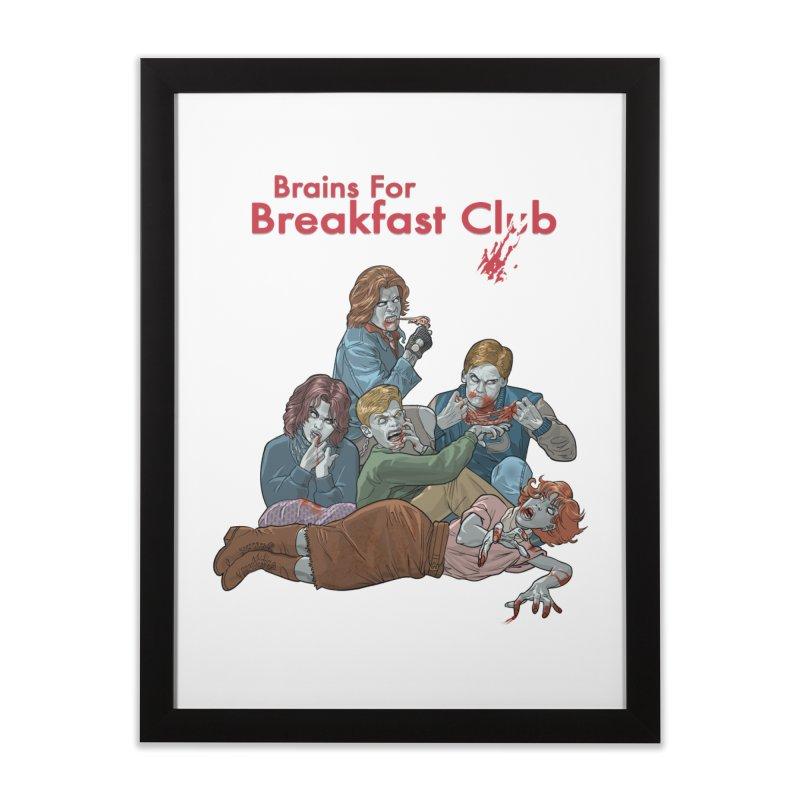 Brains for Breakfast Club Home Framed Fine Art Print by Ayota Illustration Shop
