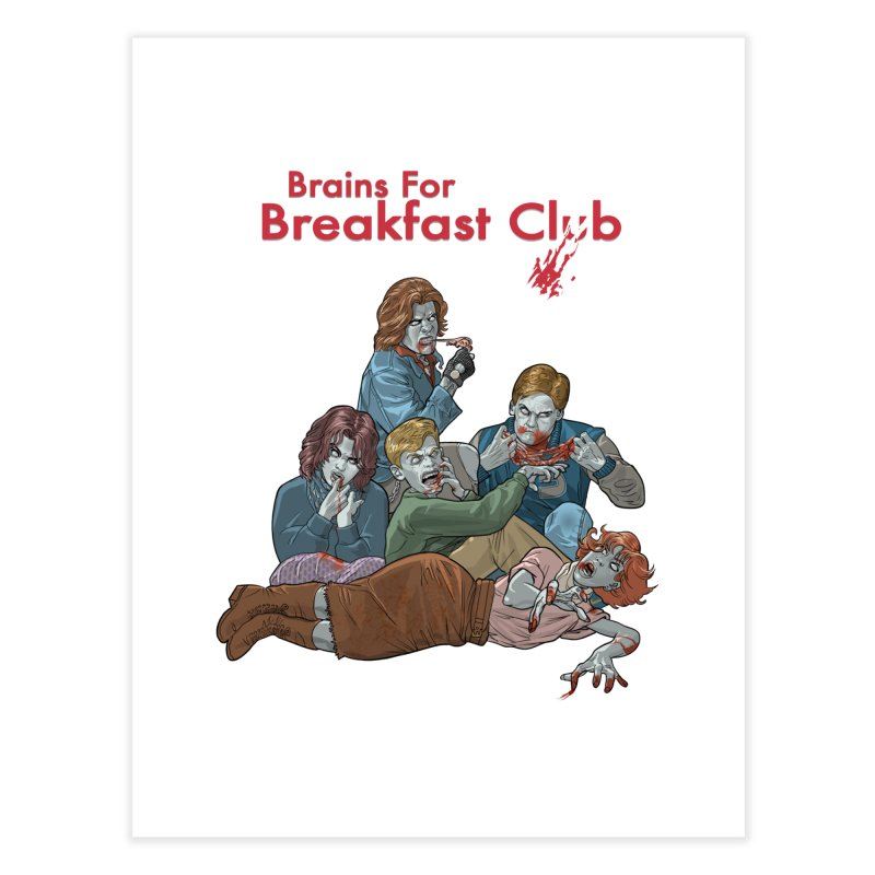 Brains for Breakfast Club Home Fine Art Print by Ayota Illustration Shop