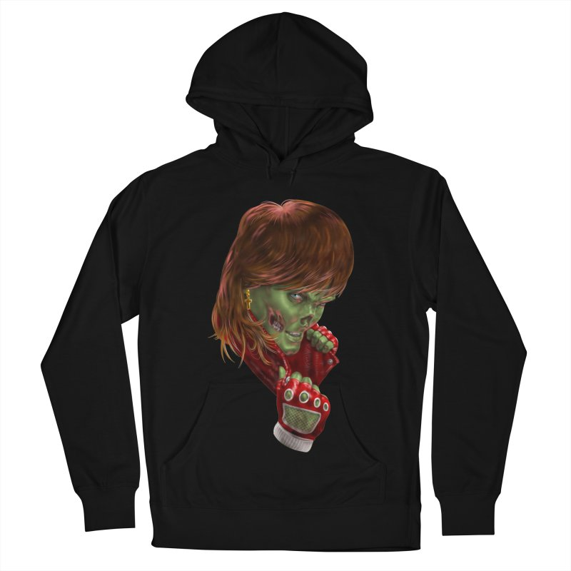 Didn't Die in '85 (eighties zombie) Women's French Terry Pullover Hoody by Ayota Illustration Shop