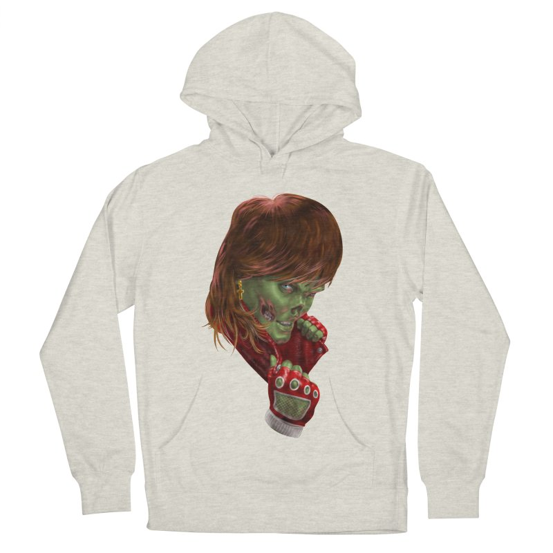 Didn't Die in '85 (eighties zombie) Men's French Terry Pullover Hoody by Ayota Illustration Shop