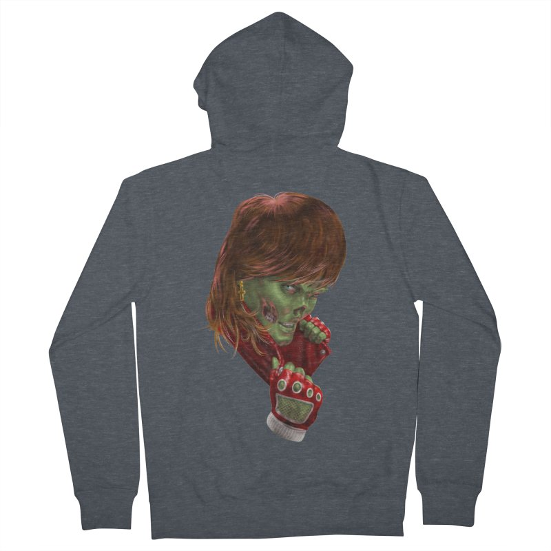 Didn't Die in '85 (eighties zombie) Women's French Terry Zip-Up Hoody by Ayota Illustration Shop