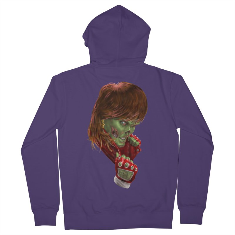 Didn't Die in '85 (eighties zombie) Women's Zip-Up Hoody by Ayota Illustration Shop