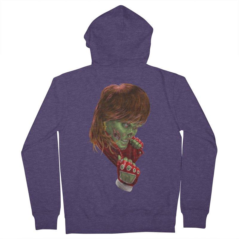 Didn't Die in '85 (eighties zombie) Men's French Terry Zip-Up Hoody by Ayota Illustration Shop