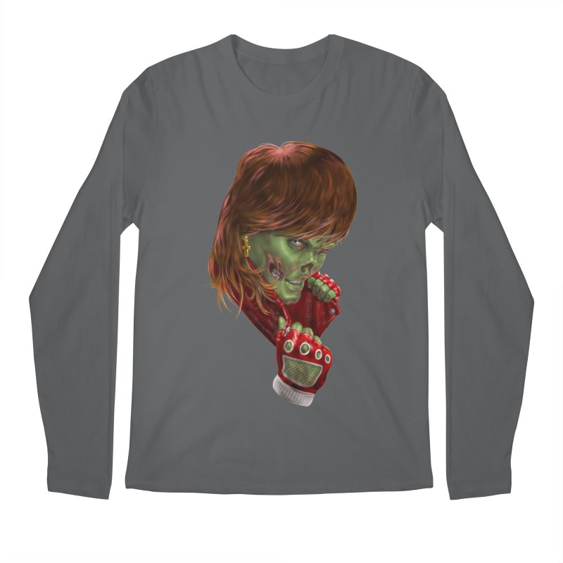 Didn't Die in '85 (eighties zombie) Men's Longsleeve T-Shirt by Ayota Illustration Shop
