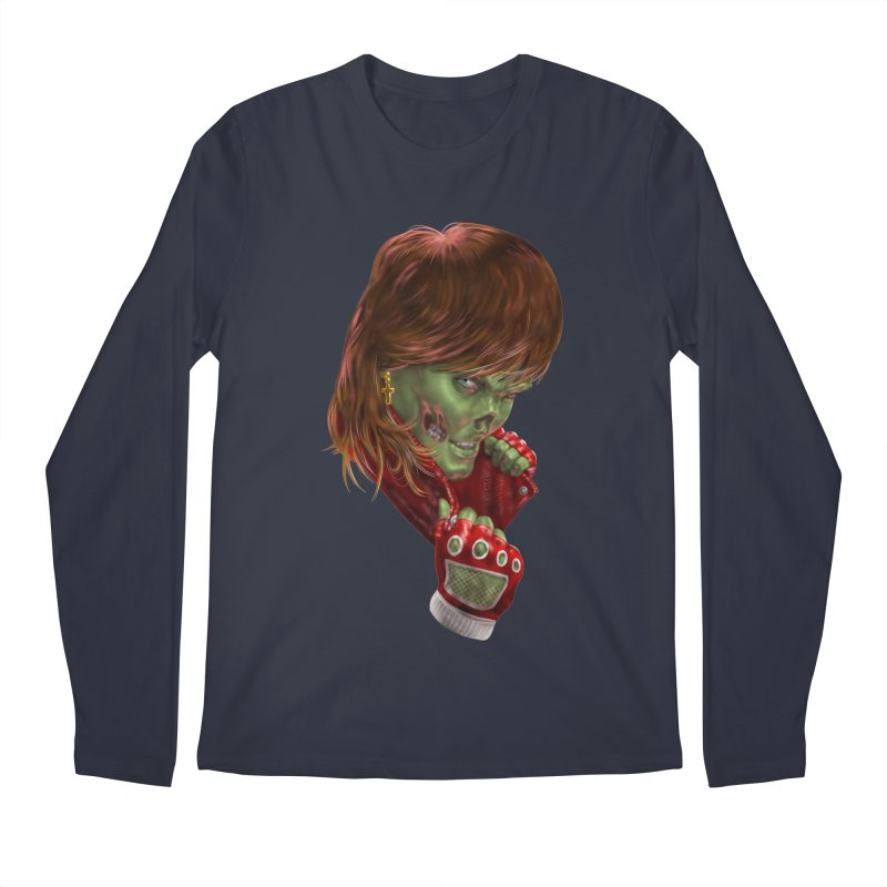 Didn't Die in '85 (eighties zombie) Men's Regular Longsleeve T-Shirt by Ayota Illustration Shop