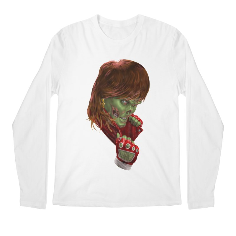 Didn't Die in '85 (eighties zombie) Men's Regular Longsleeve T-Shirt by Ayota Illustration Shop