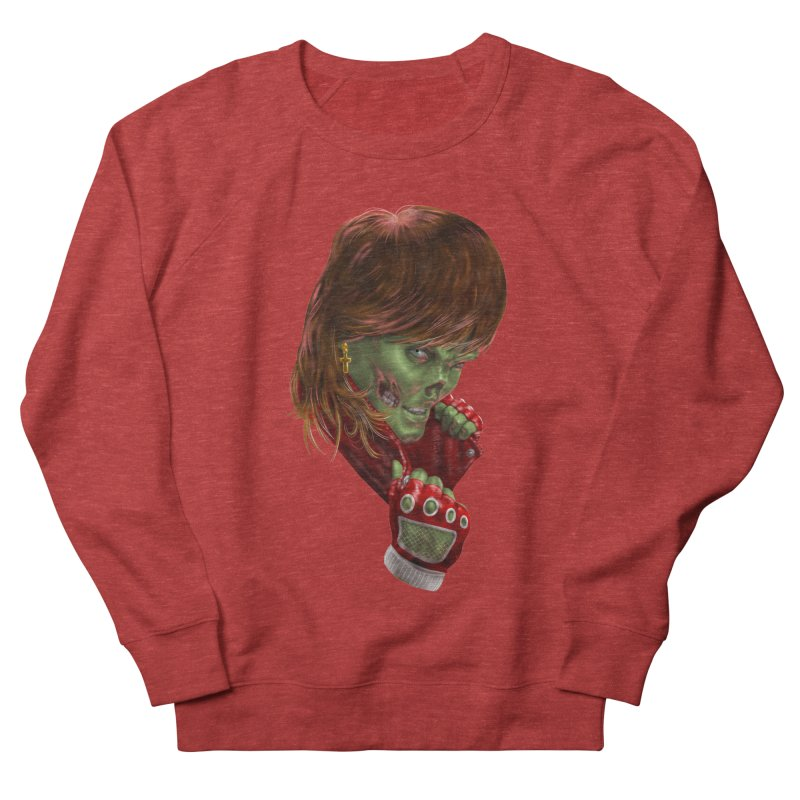Didn't Die in '85 (eighties zombie) Women's French Terry Sweatshirt by Ayota Illustration Shop